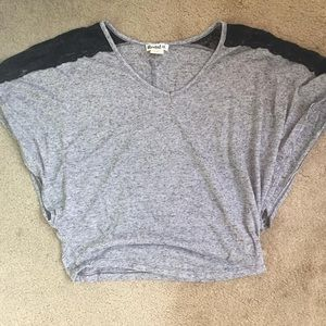 Tops - Gray and Black Top